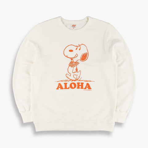 TSPTR Aloha Snoopy Sweatshirt - White