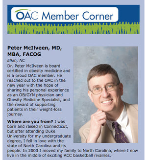 Dr. Peter McIlveen was recently featured in the Obesity Action Coalition's national newsletter!