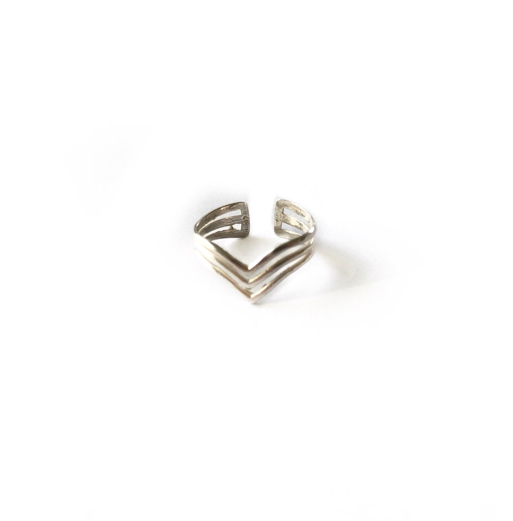 Triple Chevron Ring - Standout Boutique
