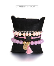 Load image into Gallery viewer, Handmade Pink Crystal Beads Bracelet