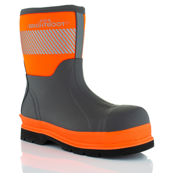 Brightboot Mid Wellingtons Orange / Grey