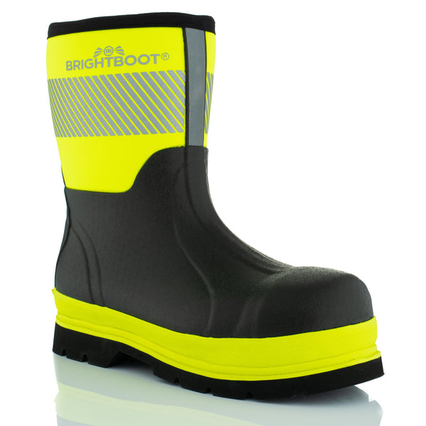 Brightboot Waterproof Rigger Safety Boots Yellow / Black