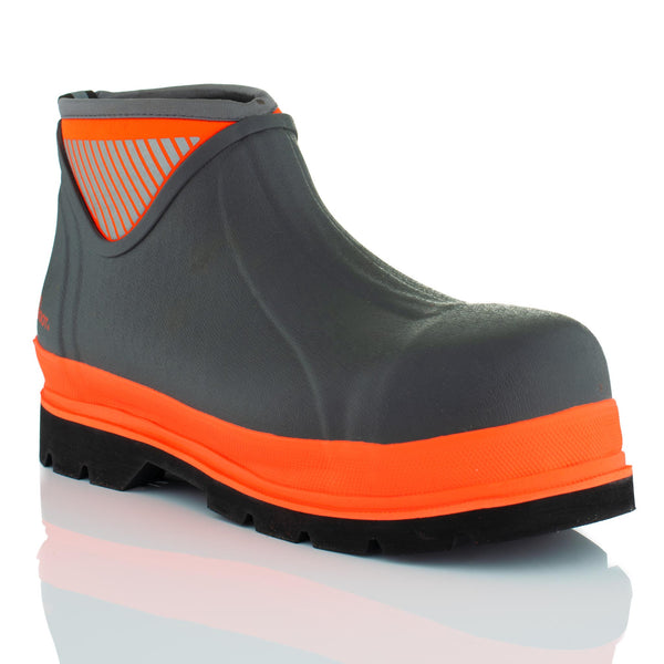 Brightboot Ankle Waterproof Safety Boots Orange / Grey
