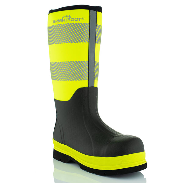 Brightboot High Leg Waterproof Safety Boots Yellow / Black