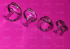 "Christian Dior Silver Set of Four Letter Rings (Ring Set)     ""D I O R"""