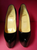 Christian Louboutin Daffodile (Daffodil) Point-Toe Platform Pumps, Black Leather