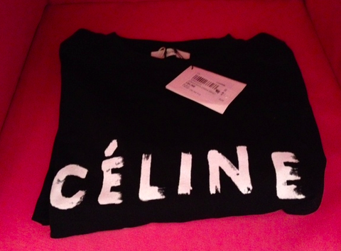 ** Celine ICONIC Paris T-shirt in Black: XS **