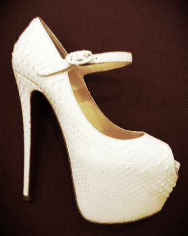 Christian Louboutin Lady Highness 160mm White Python
