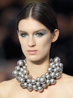 CHANEL SILVER-PEARL Necklace