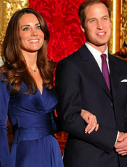 SOLD!!! Issa Blue Wrap Engagement Dress, Kate Middleton