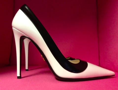 SOLD!!! Prada Black White Pumps, Christine Centenera