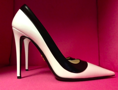Prada Iconic Black + White Pumps: ASO Christine Centenera @ Fashionweek