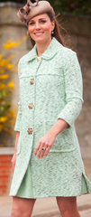 SOLD!!! Mulberry Tweed Mint Green Coat