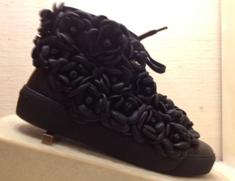 Chanel Camellias Runway Sneakers: Black on Black