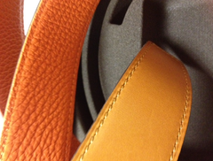 NEW AUTHENTIC 2013: Hermes 32mm, 90cm belt strap (Orange/Gold)
