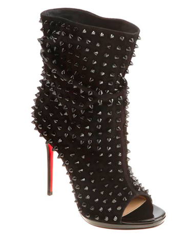 Christian Louboutin Guerilla Black Suede Black Spiked Heels