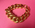 Celine Gold Chain Link Bracelet, .75 inches