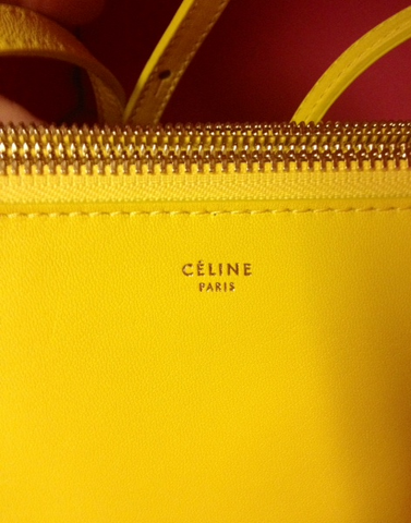 Celine Large Yellow Trio Crossbody Bag