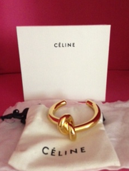 ** Celine Knot Bracelet Gold as seen on Christine Centenera **