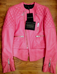 SOLD OUT!!! NWT Balenciaga 2013 Flamingo Pink Quilted Leather Jacket Size 38