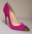 Christian Louboutin Pink Geo 120mm Suede Studded Pumps: ASO Blake Lively