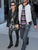 SAINT LAURENT Studded Rangers Boot: Kourtney Kardashian, Cara Delevingne