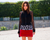SOLD!!! Balenciaga Paris Red Snake Jacquard Skirt, Christine Centenera