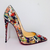 Christian Louboutin So Kate 120 Multicolor Python Faience Lucido