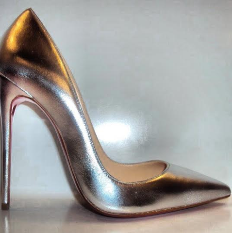 Christian Louboutin So Kate 120mm, Silver