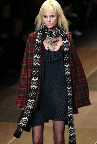 SOLD!!! Saint Laurent Runway, Plaid Oversized Wool Red Flannel Shirt, Cardigan
