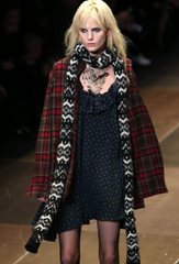 Saint Laurent Runway, Plaid Oversized Wool Red Flannel Shirt, Cardigan