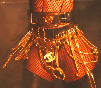 ** Chanel Vintage Pour It Up Rihanna Gold Chain Belt **
