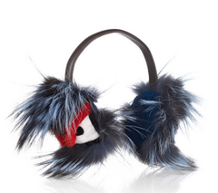 Fendi Fox, Mink and Leather Monster Earmuffs, Ear Muffs