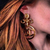 ** Chanel Vintage Large Clover Twist CC Earrings **