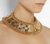 Balmain Quilted-effect gold-plated necklace