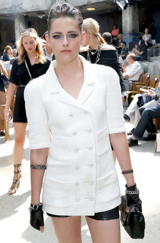 Chanel Resort 2014 Double Breasted Tweed Jacket, Kristen Stewart