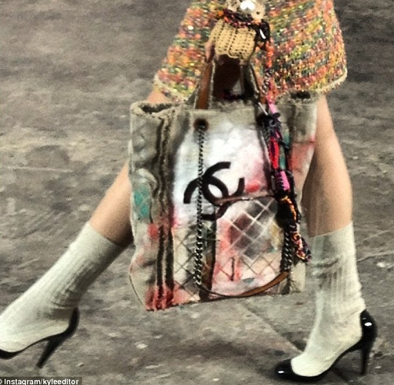 SOLD!!!! CHANEL 2014 RUNWAY GRAFFITI TOTE BAG BACKPACK, LIMITED EDITION