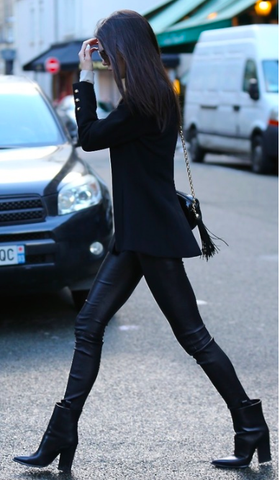 Celine Fall Black Leather Boots: ASO Kendall Jenner