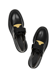 2014 Marni Leather Loafers, Gold Plated: Rumi Neely, Streetstyle 2014