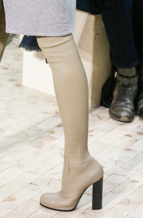 2014 Celine Thigh High Boots in Calfskin Taupe, Paris, Kendall Jenner