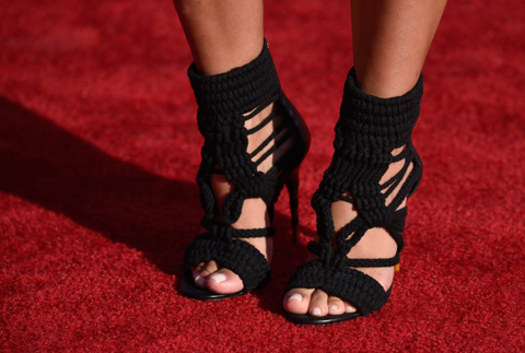 BALMAIN Black Braided Cotton and Leather Sandals, Fashion Week: ASO Christine Centenera