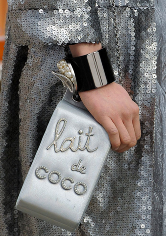 Chanel Milk Carton 'Lait de CoCo' Silver Supermarket, Grocery RUNWAY Bag