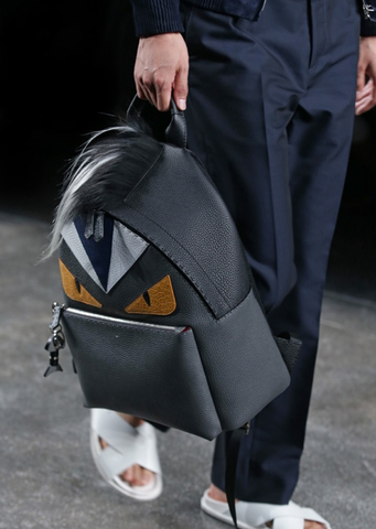 Spring Summer 2015 Fendi Runway Monster Backpack with Fur Crest
