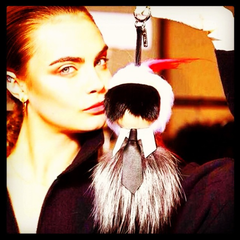 LIMITED EDITION: Fendi Monster Charm Karlito Buggie for Handbag; Chanel KARL LAGERFELD