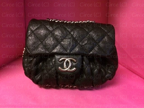 * NIB 2014 Chanel Black Chain Around Messenger Bag: ASO Blake Lively *