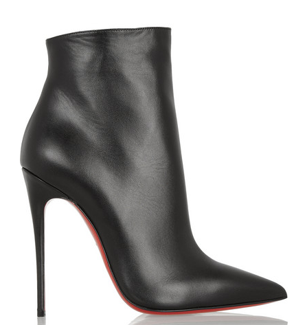 ** NIB Christian Louboutin So Kate 120 Black leather ankle boots **