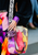 ** 2015 Chanel Multicolor Tie Dye Messenger Bag - Spring Summer - Graffiti Canvas Strap **