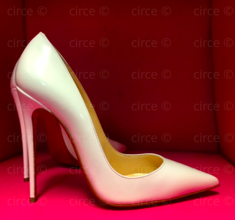 ** Christian Louboutin So Kate 120mm White Patent**