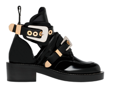 ** Balenciaga Ceinture Cut Out Gold Buckle Ankle Boots: ASO Kylie Jenner + Chiara Ferragni **