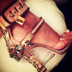 Dsquared Dsquared2 Runway Embellished Virginia High Heel Jewel Sandals: ASO Rihanna